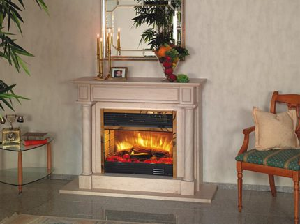 Electric fireplace - heater for a city apartment