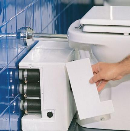 Toilet shredder pump