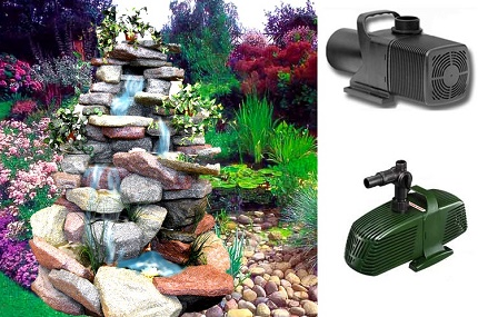 The operation of surface pumps for fountains and waterfalls