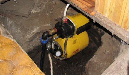 Basement surface pump