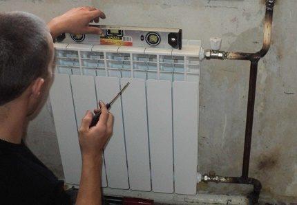 Radiatora uzstādīšana pie speciālista