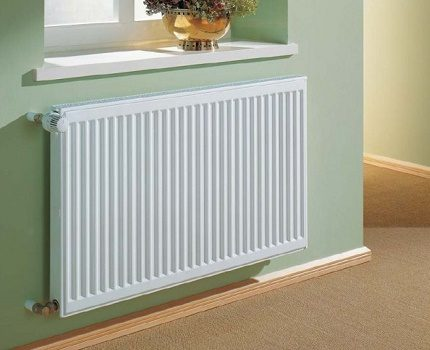 An example of a traditional radiator installation