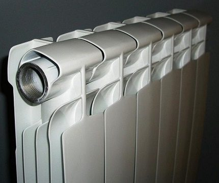 Collapsible radiator with separate sections
