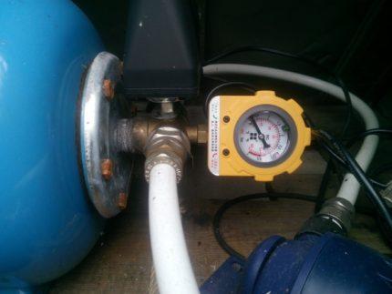 Pressure gauge for pressure switch