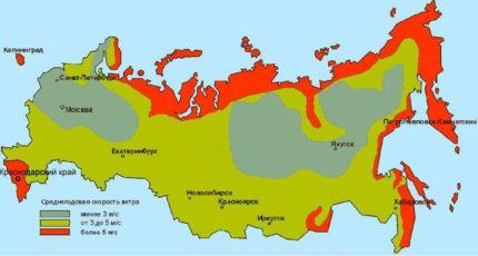 Rusijos vėjo energijos ištekliai