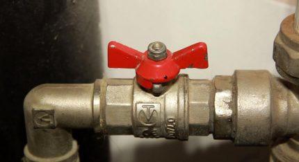 Installation du robinet à boisseau sphérique