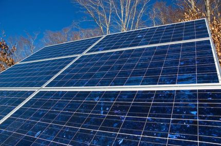 Polycrystalline solar panels in a private heating system