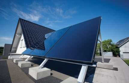Operation of solar panels in heating systems