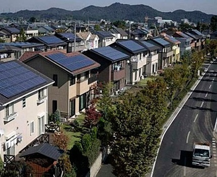 Solar heating systems for domestic use