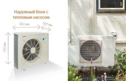 Outdoor unit heat pump air water