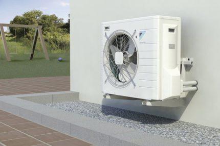 Where is an air-to-air heat pump needed