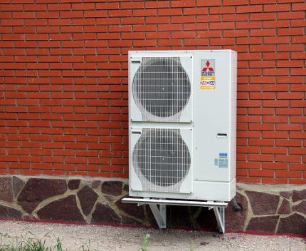 What does an air-to-air heat pump look like?