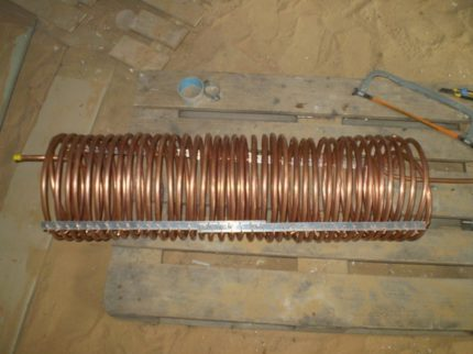 Homemade heat pump heat exchanger