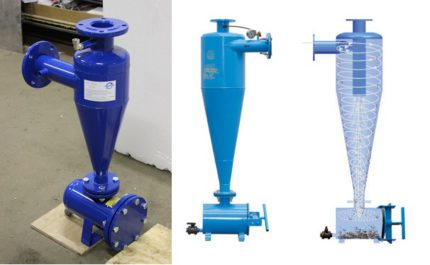 Hydrocyclone for heat pump water-water