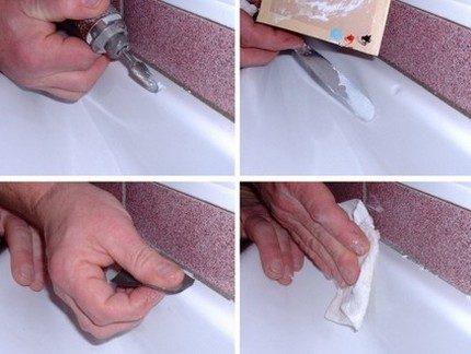 Réparation des rayures de l'émail