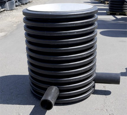 Corrugated polymer well