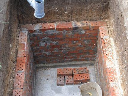 Rectangular Brick Well