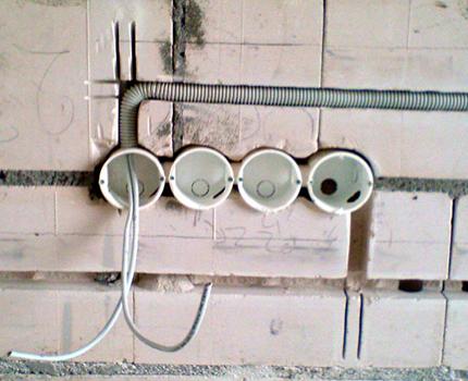 Installer des boîtiers de prises dans la cuisine