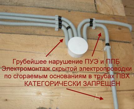 Câblage incorrect
