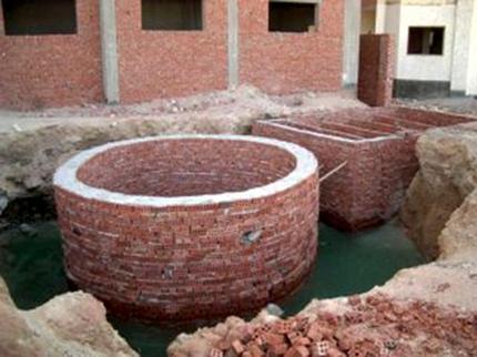 Brick well for autonomous sewage