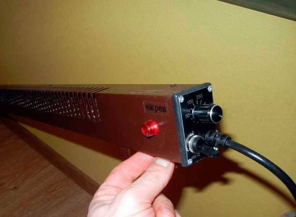 Installation d'une plinthe électrique convecteur