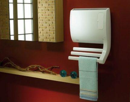 Convecteur avec fonction sèche-serviettes