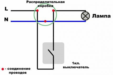 Circuit for connecting a switch