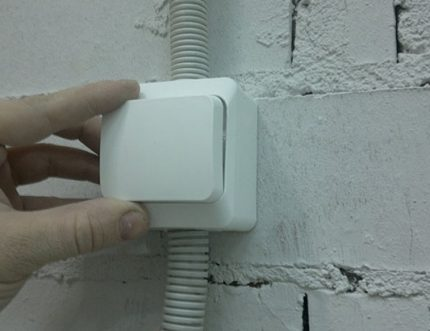 Testing the overhead switch