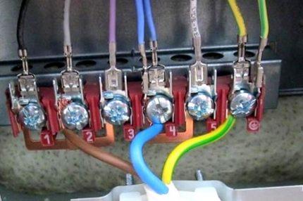 Connexion cuisinière électrique