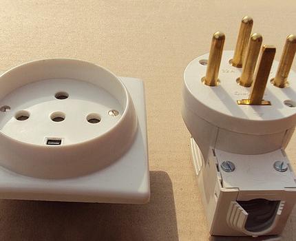 Connecteur d'alimentation encastré