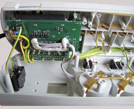 Le contenu interne du thermostat