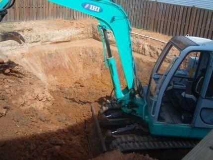 Excavation for the pool