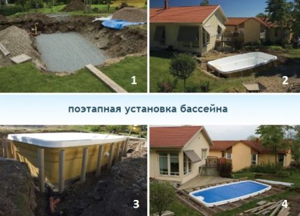 How to arrange a pool in the country with your own hands