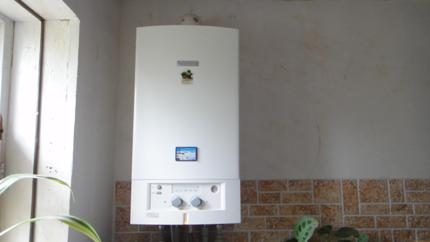 Calculation of boiler power on gas