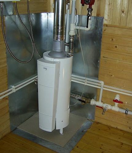 Installation d'une chaudière à gaz au sol