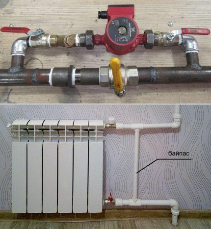 Connexion bypass pour pompe et radiateur
