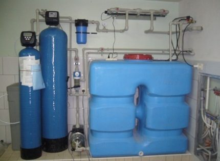 Indoor tank installation