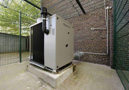 Heat pump shelter