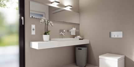 Prises et interrupteurs dans la salle de bain