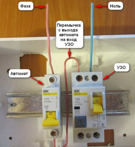 The use of a circuit breaker