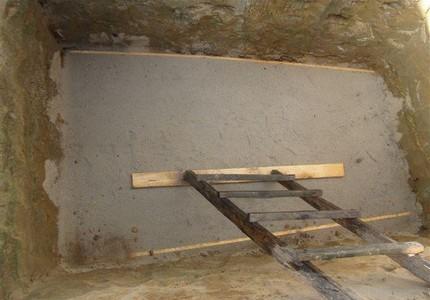 Concrete pit bottom