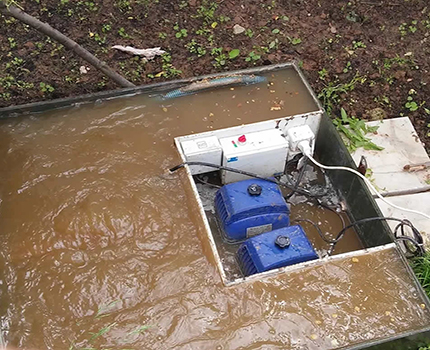 Flooding station TOPAS