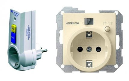 Socket equipped with an RCD