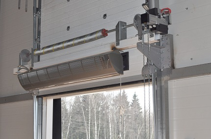 Accounting for the thermal curtain in the calculations of air heating