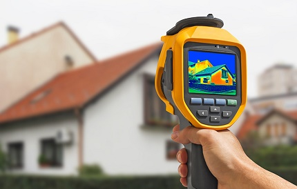 Thermal imager to determine the exact heat loss
