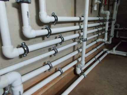 Installation of PP pipes