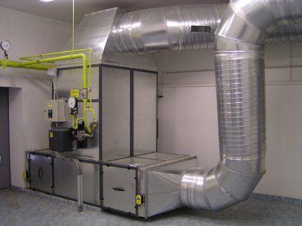 Air heating boiler