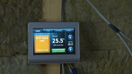 Automatic air heating control