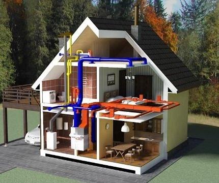 Air heater system diagram