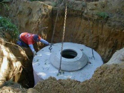 Installation of concrete rings